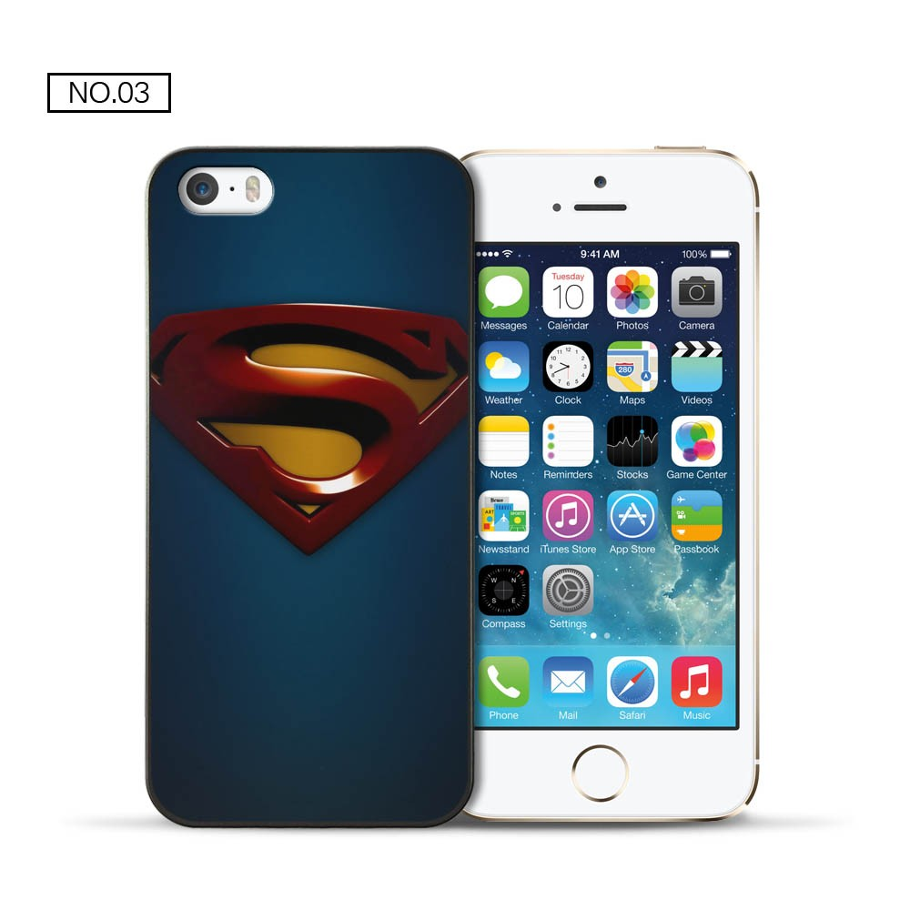For Apple iPhone 5 5S case Superman hard PC back cover for coque iPhone 5 5S case 2016 new arrivals for fundas iPhone 5S case