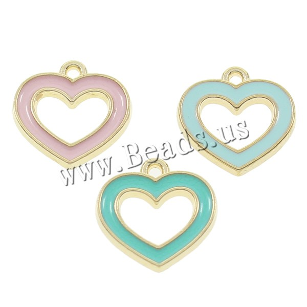 Free shipping!!!100PCs/Bag Clearance Jewelry Zinc Alloy Heart Pendants KC gold enamel more colors pendant charms for designer(China (Mainland))