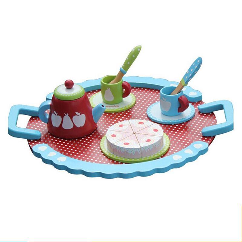 Russian Tea Classic Mini Tea House Kitchen Pretend Play Children Toys(China (Mainland))
