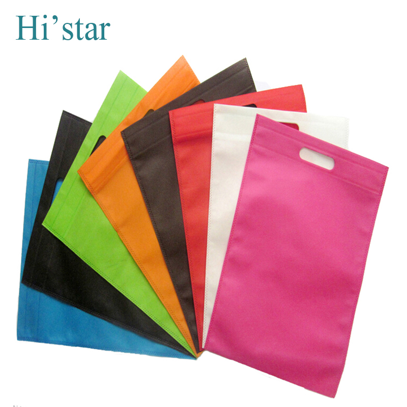 25*30cm 50pcs/lot custom non woven shopping bags for famous brand(China (Mainland))