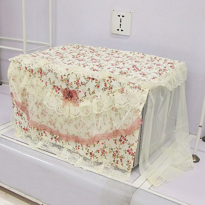 Mona series of rustic rose soft fabric microwave oven set home microwave oven hood microwave oven dust cover Special wholesale(China (Mainland))
