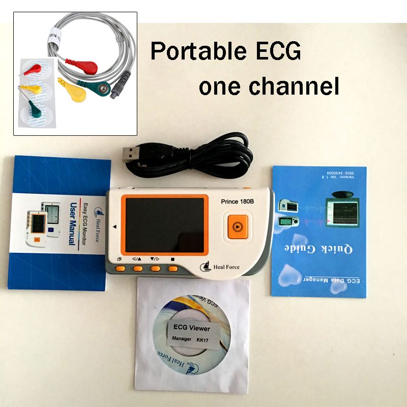 CE Approved Portable USB software ECG Monitor Quick ECG with lead wire