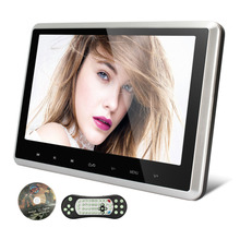 "10.1""HD Digital TFT Screen Touch Button Car Headrest DVD Player With HDMI Port Support 1080P Silver Black frame car monitor(China (Mainland))"