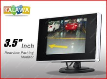 "One piece two used 3.5"" inch TFT LCD car rearview monitor high-definition 2 Video Input DVD VCR GGG FREESHIPPING(China (Mainland))"