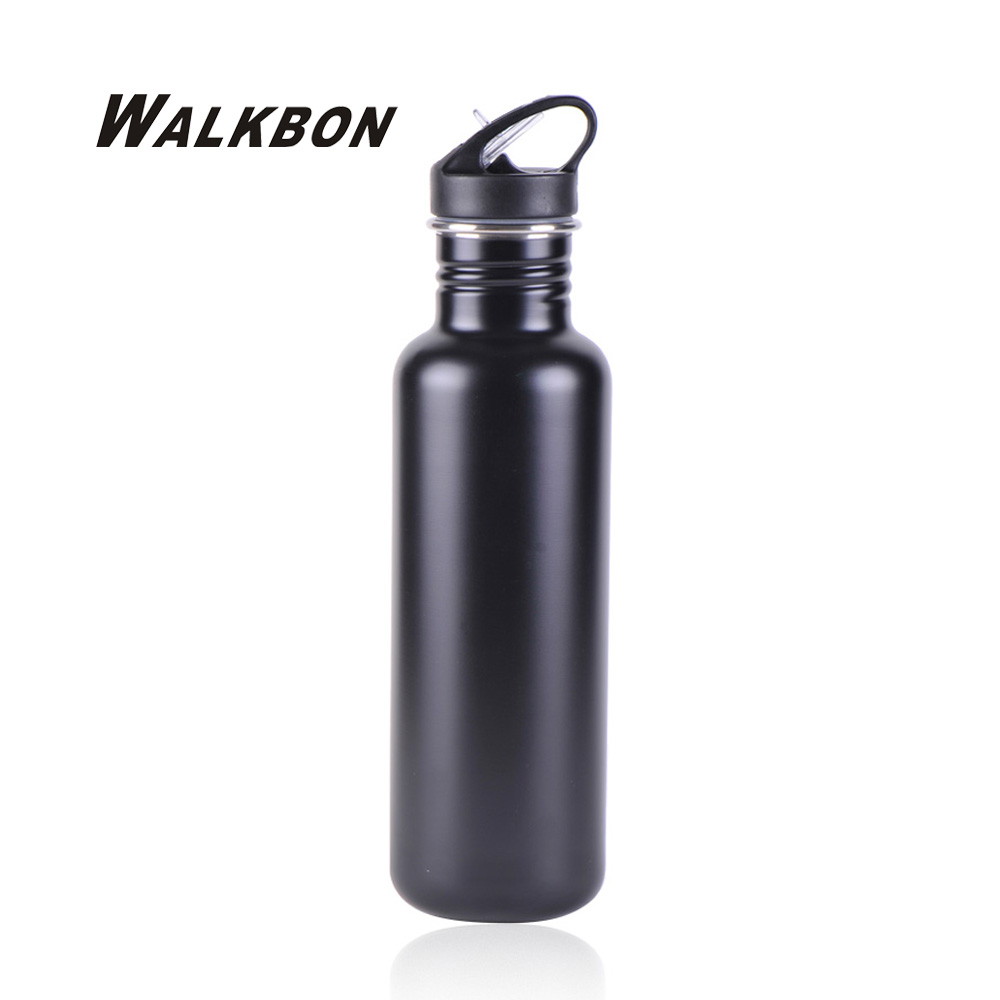 WALKBON Stainless Steel Water Bottle With Straw Sport Bottle Cup Bicycle Outdoor Deportivas Kettle 800ML 6 Colors(China (Mainland))