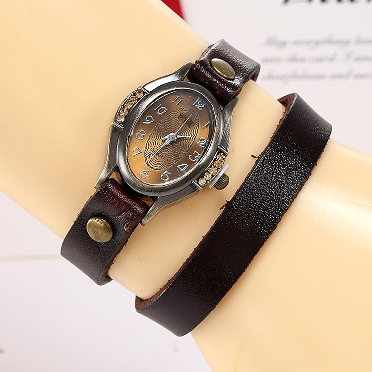 Relogios femininos гавайи длинная ретро кожа браслет часы relojes mujer платье свободного покроя женщины кварцевый часы # k601