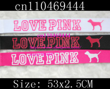 Hot 5000pcs love pink Key lanyards Neck lanyard, Mobile Phone Straps / keychain for collection(China (Mainland))