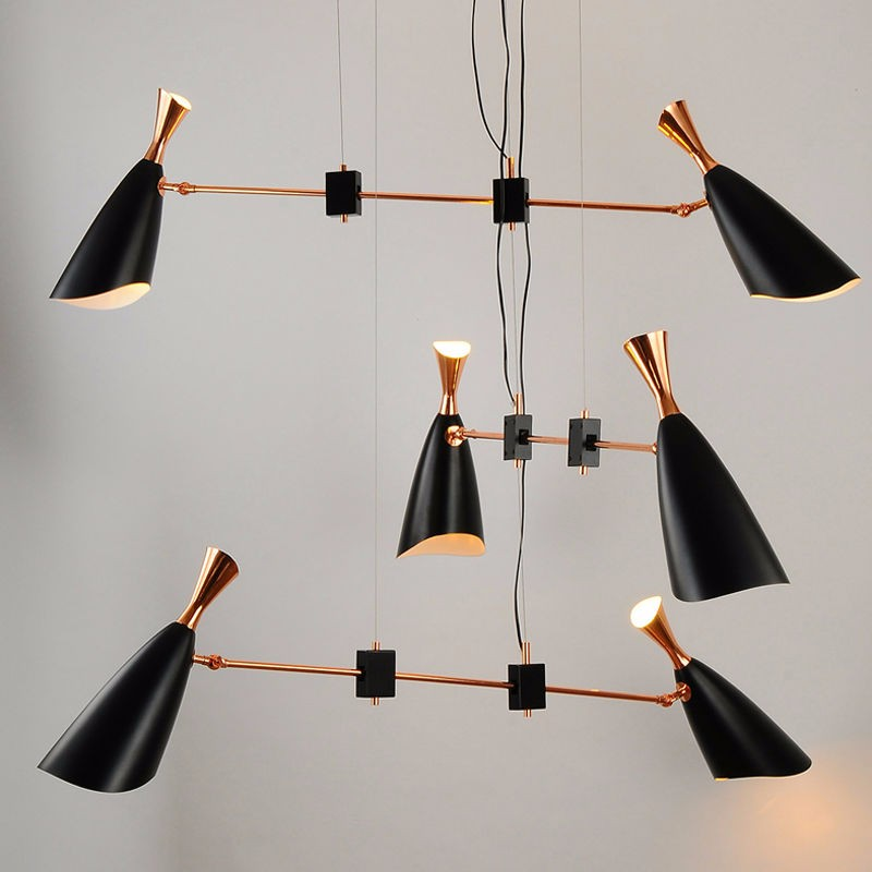 Купить Delightfull герцог Подвесной Светильник G9 E27 Nordic дизайнеры современный творческий вилла соединение гостиная столовая подвесные светильники Fxiture