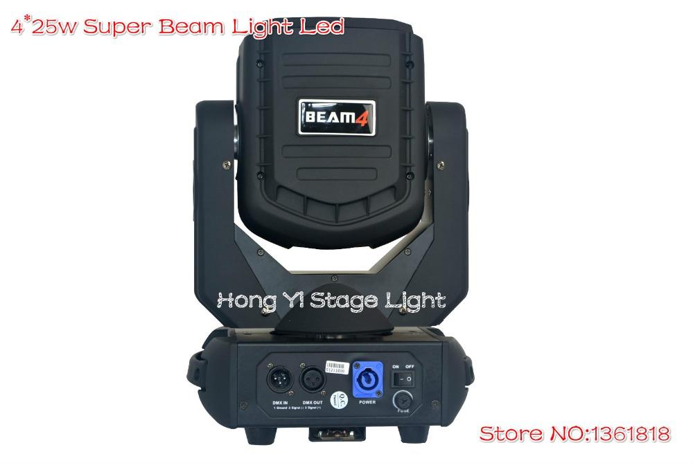 New LED Super Beam Moving Head Light 4*25W Beam Light DMX512 for Disco DJ Club Home Garden Party Wedding Effect(China (Mainland))