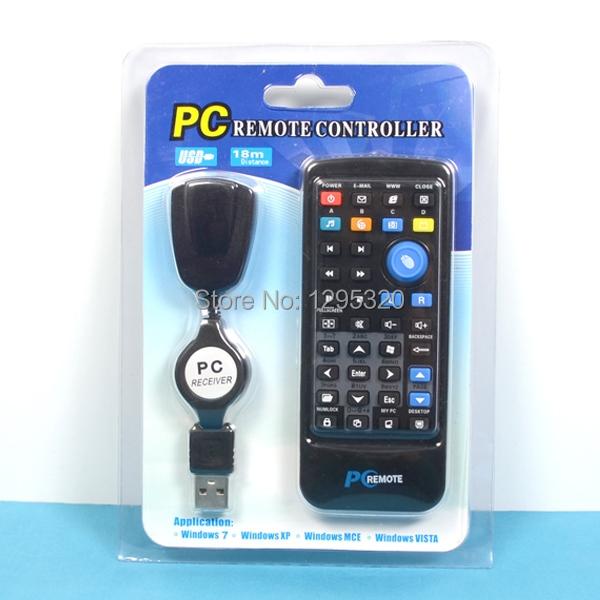 1pcs Free Shipping USB Desktop PC Laptop Media Remote Control Controller for Windows 7 XP Vista MGFzR(China (Mainland))