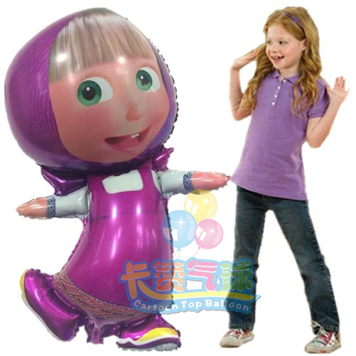 large size balloons Masha and bear party Foil Balloons Cartoon balls birthday Party decoration kids party Supplies classic toys(China (Mainland))