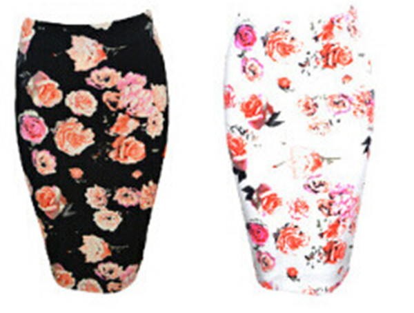 2015 Brand New Fashion Women Clothing Sexy Autumn Winter Pencil Skirts Vintage Floral Print Casual Skirts Saias Femininas(China (Mainland))
