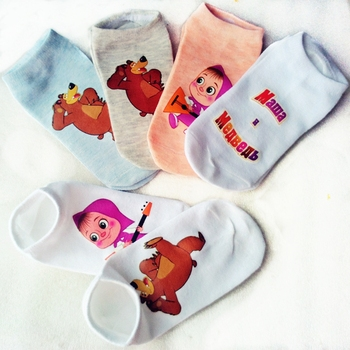 Wholesale cotton children socks kids socks for girls boys 6-14 Age cartoon pattern 6 colors ZL0718