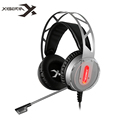 XIBERIA X12 Stereo Gaming Headset Headband Over ear USB Game Headphones with Microphone Mic LED Light