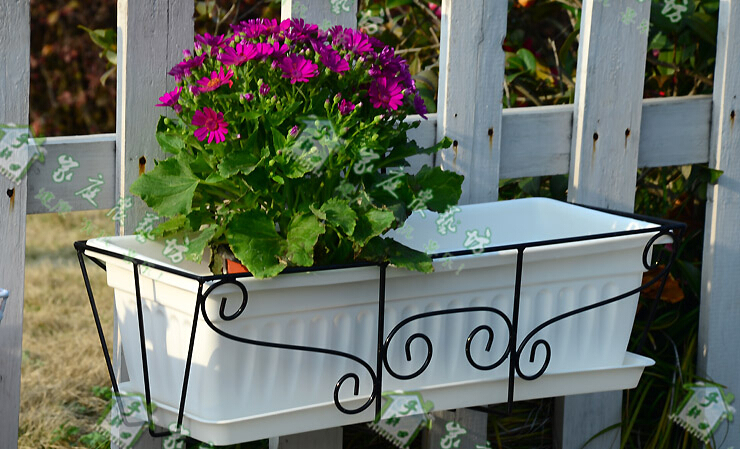 Promotion big size iron planter support hang on the wall - Planters to hang on railing ...