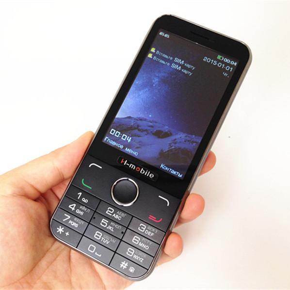 Original H-Mobile 3.5'' Big Screen Cell Phone Luxury Slim Bar Mobile Phone Dual SIM Card Loud Sound Vibration Russian Keyboard(China (Mainland))