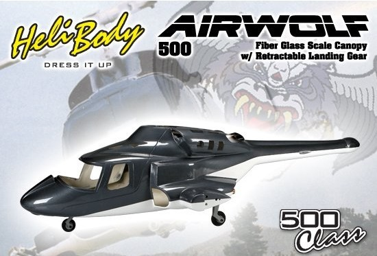 500 size airwolf scale Fuselage Bell 222 TREX 500E helicopter W/retracts airwolf 500-fuselage wholesale P2(China (Mainland))