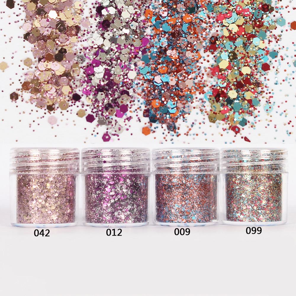 Nail 1 Jar/Box 10ml Nail Pink Rose Mix Color Mix Nail Glitter Powder Sequins Powder for Gel Nail Decoration 300 Colors 4-72(China (Mainland))