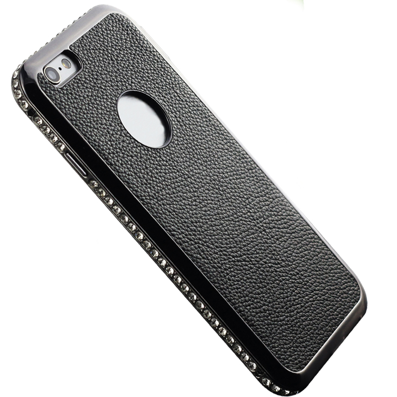 Leather Diamond Featured A + Grade Aerospace Aluminum Production Metal Frame Cover Case for Apple iPhone 6 6s(China (Mainland))