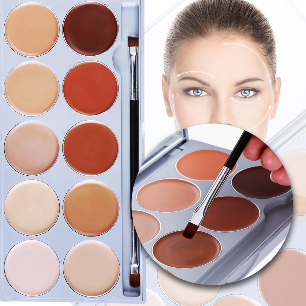 10 Color Contouring Makeup Kit Cream Based Professional Concealer Palette Face Make up Set Pro Palette High-end Formula(China (Mainland))