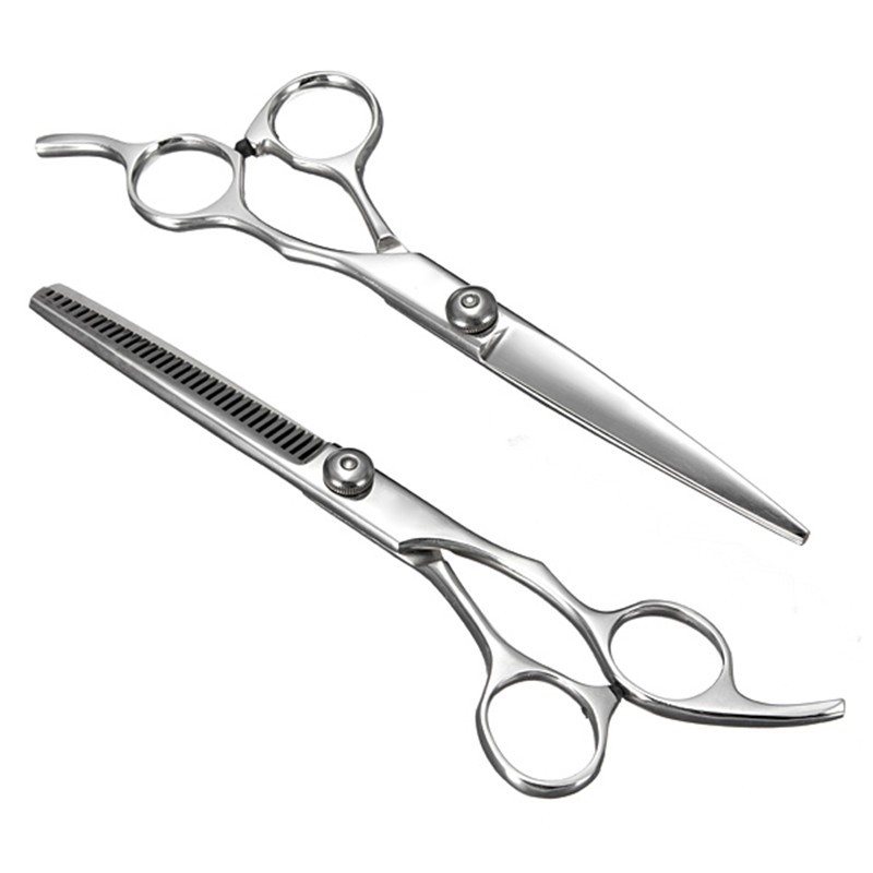 Гаджет  Professional Stainless Steel Hair Scissors Salon Cutting Thinning Hairdressing Shears Regular Flat Teeth Blade Styling Tools None Красота и здоровье