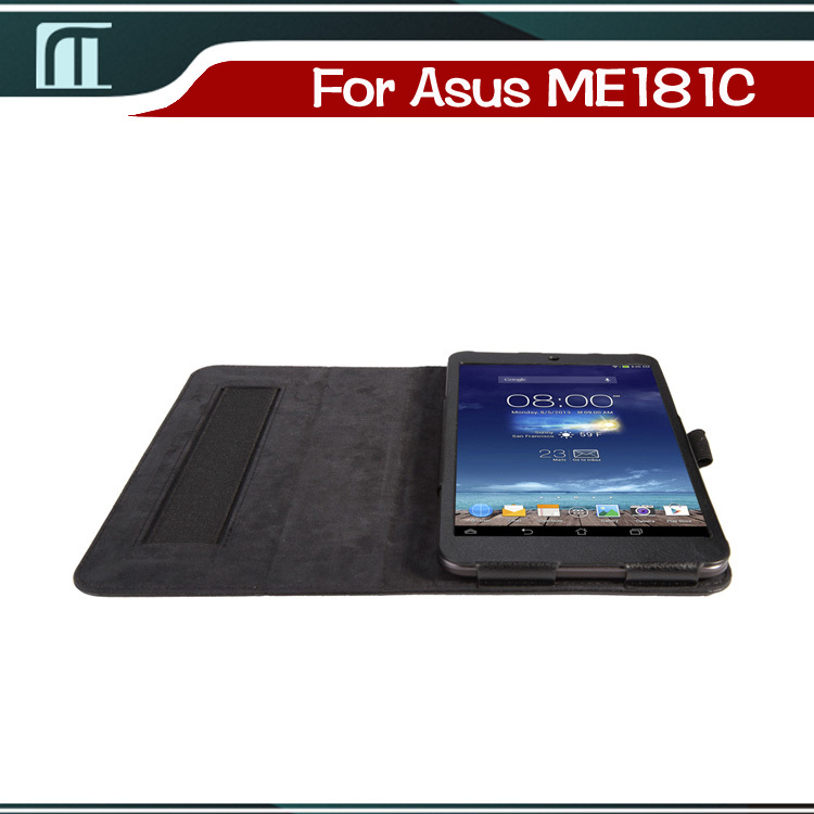 Stand PU leather Case Cover for ASUS Memopad 8 me181c 8 inch smart folded super slim tablet case(China (Mainland))