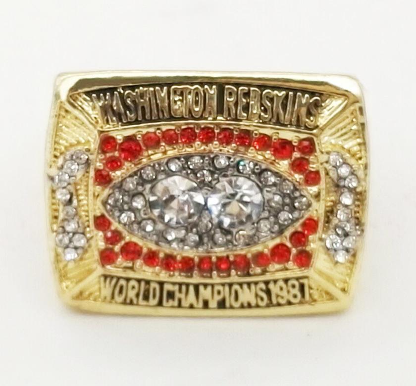 1987 American football Washington Redskins sale replica championship rings fashion men jewelry Fast shipping STR0-245(China (Mainland))
