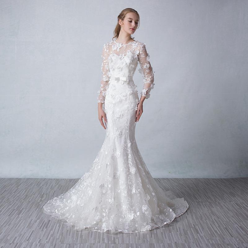 Online Get Cheap Fitted Wedding Dresses Aliexpress