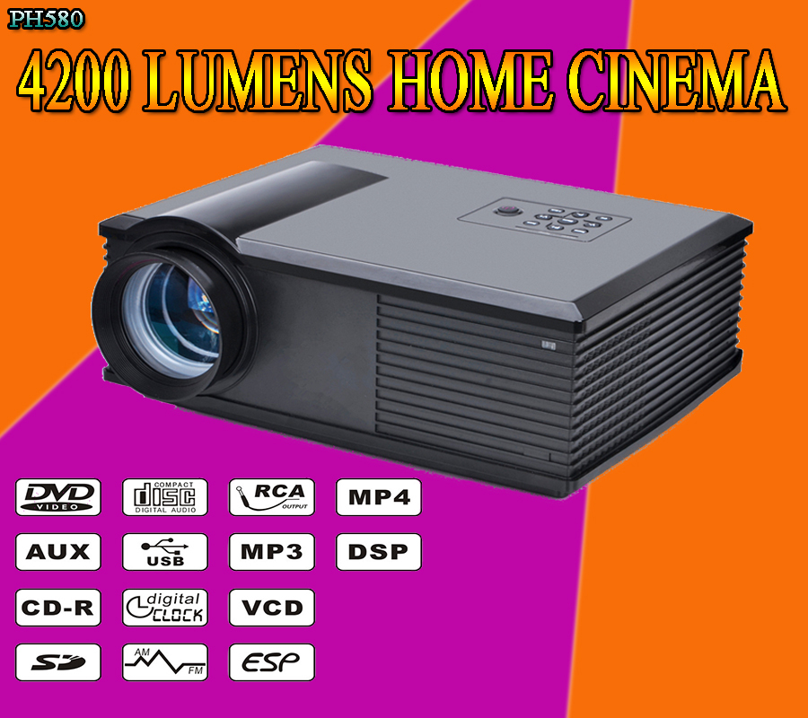 2015 new 4200 lumens 2000 1 3000 1 led 1080p full hd for Best mini projector 2015