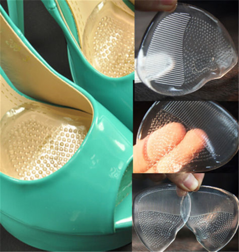 1Pair Silicone Shoe Pad Insoles Women's High Heel Elastic Cushion Protect Comfy Feet Palm Care Pads Shoe Accessories  Z09601(3)