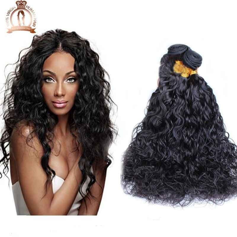 Hair Water Wave 3pcs lot 6A Brazilian Water Wave Human Hair Weaves ...