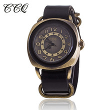 Buy CCQ Vintage Leather Strap Watch High Women Leather Wrist Watch Casual Ladies Quartz Watch Relogio Feminino 1311 for $4.46 in AliExpress store