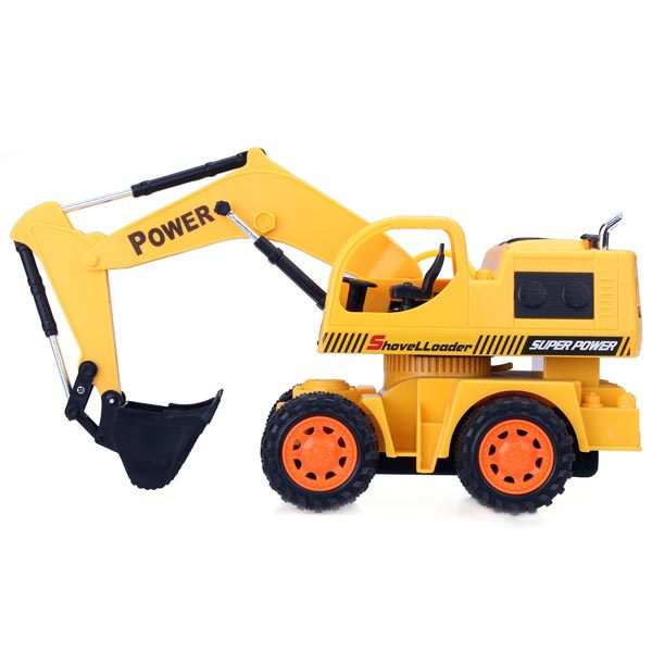 Free Shipping 100% Original 5CH RC Engineering Car Remote Control Excavator Toy Car toy for kids(China (Mainland))