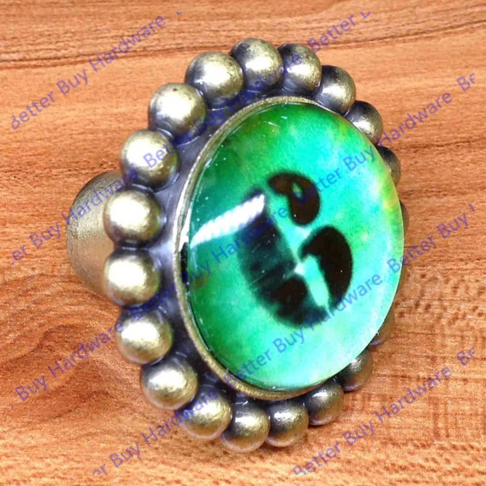 Vintage style single hole digital number knobs handles pulls for doors cabinets cupboards