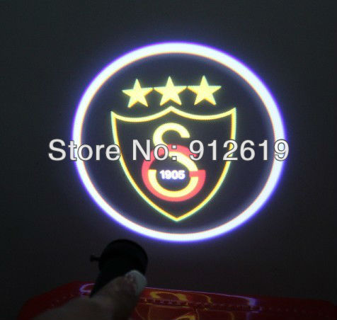 12V5W Auto accessory for LED door light car logo with name & ghost shadow light Turkey hot FOOTBALL CLUB Galatasaray SK