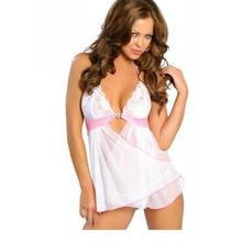 2015 Hot Sale Sexy babydoll Lace Lingerie Backless Underwear White Lingerie W3174