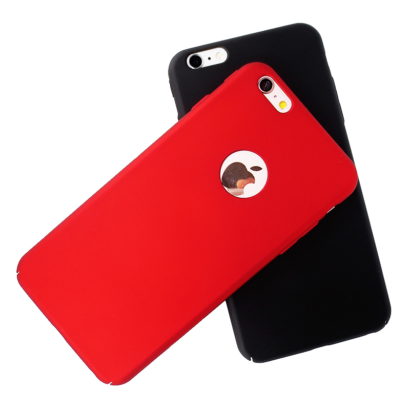 Phone Case for iPhone 6 6s Plus 6Plus Back Cover Coque Capinha Ultra Thin Slim Hard Plastic Matte with Logo for Women Girls Men(China (Mainland))