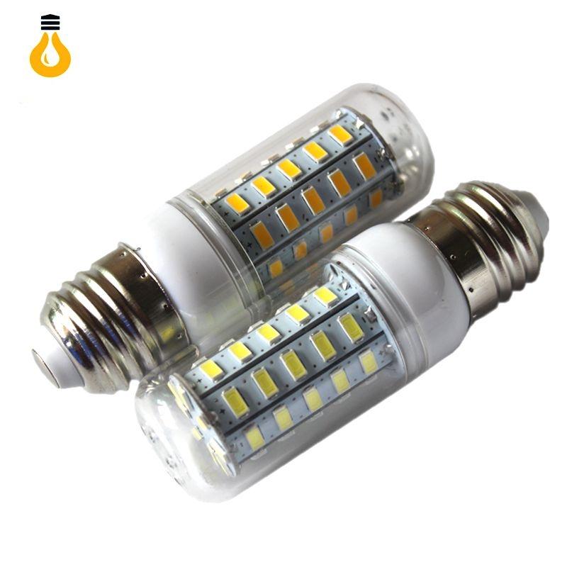 Best Brand 1pcs Lot Smart Ic Power E27 Led Light 5730 220v 24 36 48 56 69 72 Leds Corn Bulb