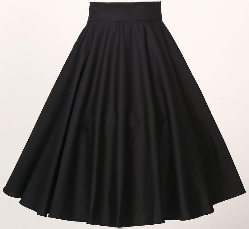Instock S 6XL skirt cotton burgundy wine red black full circle swing party prom clothing female skirt vintage inspired novelty(China (Mainland))