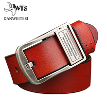 2016 hot good quality cow genuine luxury leather man belt for man,strap male pin buckle masculino 105-130cm free shipping