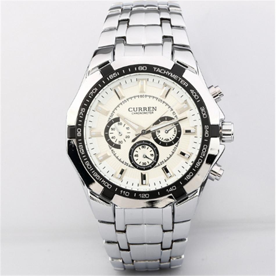 Free shipping New arrival men's CURREN watch, relogio feminino digital watch waterproof steel Watch women Quartz Watch(China (Mainland))