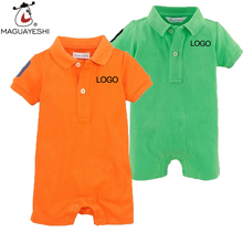 Newborn Baby Romper Summer Style Polo Romper Baby Boys Clothes One Pieces Newborn Jumpsuit Ropa Bebes Brand Baby Girl Clothing