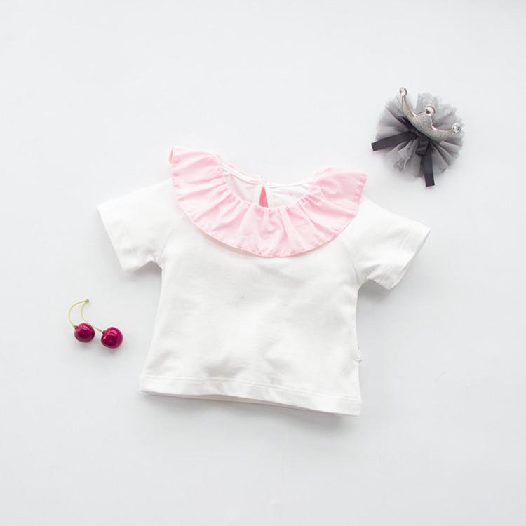 New 2016 Baby Girls Summer Tops Children Girls Tees Short Sleeve little princess T-shirts Kids baby girl clothes(China (Mainland))