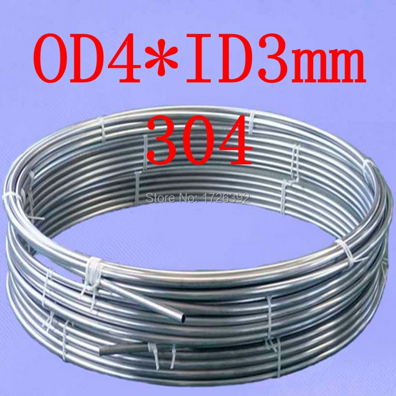 OD4*ID3mm,authentic 304 321 316 4*0.5mm stainless steel soft gas line,fluid,structure,food grade bright coil tube pipe pipeline(China (Mainland))