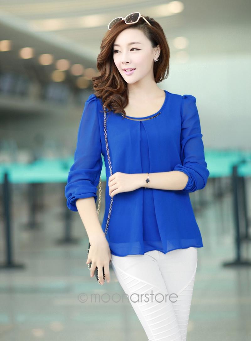 Золотой Articlesequins с круглым вырезом прорезиненная тесьма манжеты рубашка для весна / осень блузка топы размер S-M-L-XL-XXL-XXXL-XXXXL 7 цветов E3053