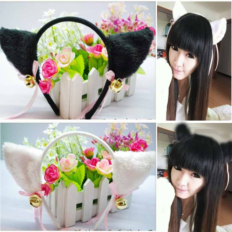 Free Shipping New Brand Cosplay Celebrate Party Deacorate Hair Band Hair Clip Fur Cat Fox Ear(China (Mainland))