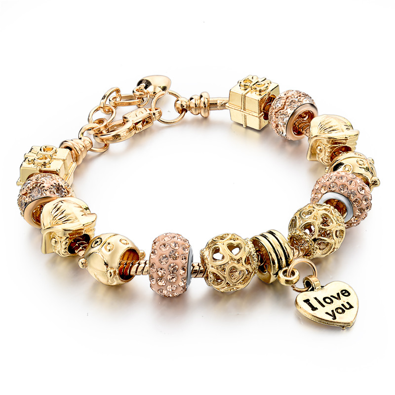 2016-High-Quality-Heart-Charm-Bracelets-For-Women-Snake ...