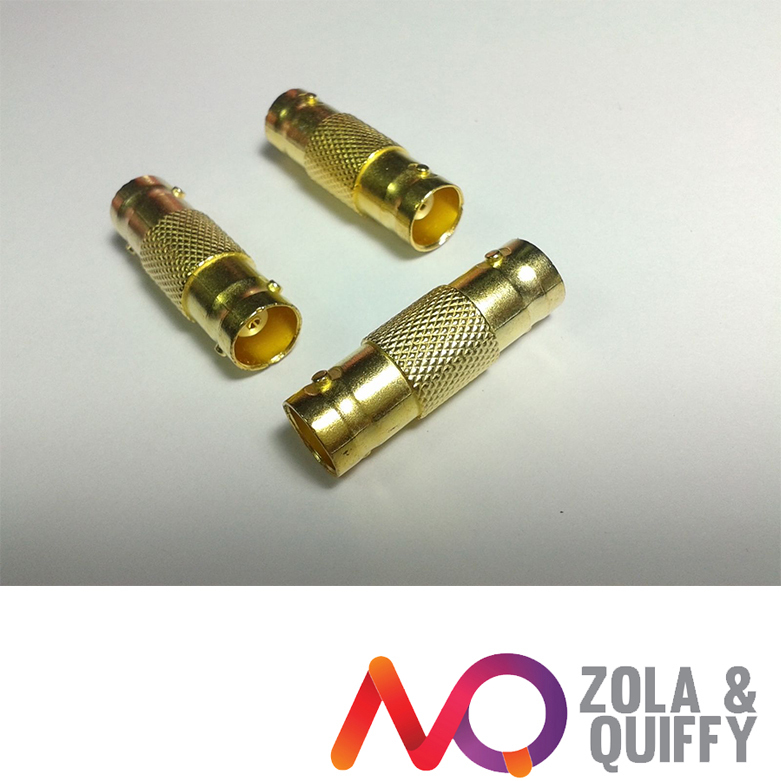 50pcs Gold plated BNC CCTV Coax Coaxial Cable Coupler Adapter Female RG59(China (Mainland))