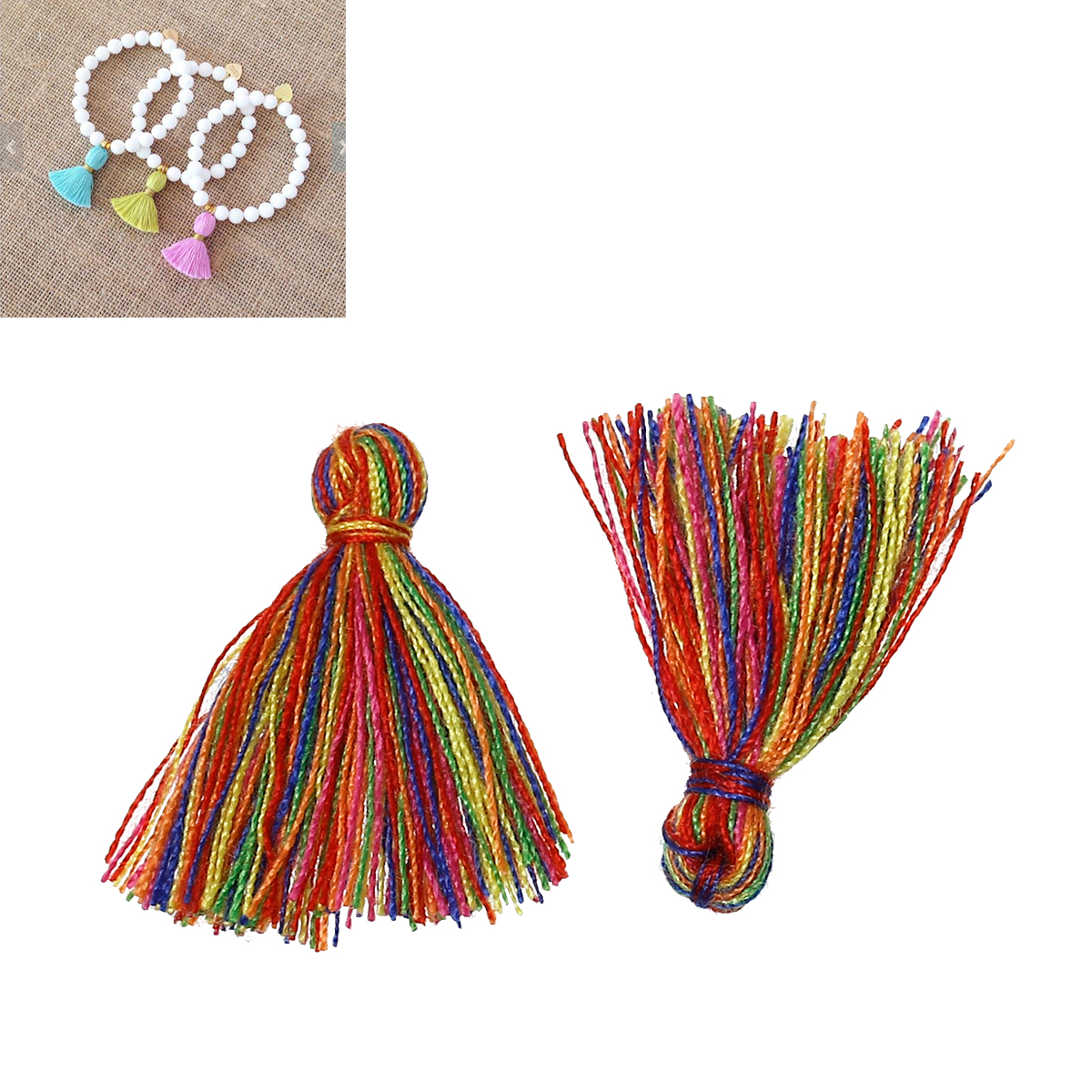 LASPERAL Cotton Tassels 20PCs Multicolor 2.5cm Long Tassel Pendant Thread Tassels Charm For DIY Women Earring & Necklace Jewelry(China (Mainland))