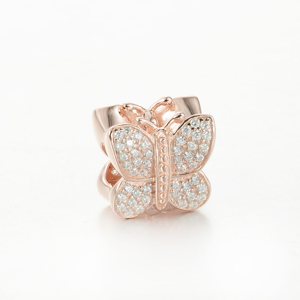 925 sterling silver sparkling butterfly with clear